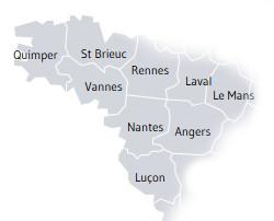Carte de la Province de Rennes