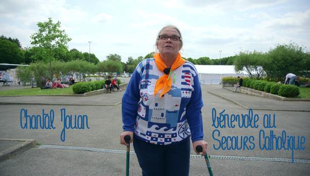 Chantal bénévole Secours Catholique