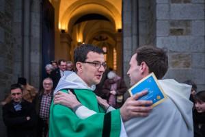 17 janvier 2016 : Ordination diaconale de Guillaume CAMILLERAPP en l'église Saint Patrick d'Alet, Saint Malo (35), France Photographie : Jean-Matthieu Gautier