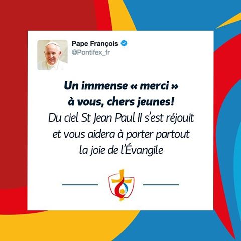 Tweet final Pape François