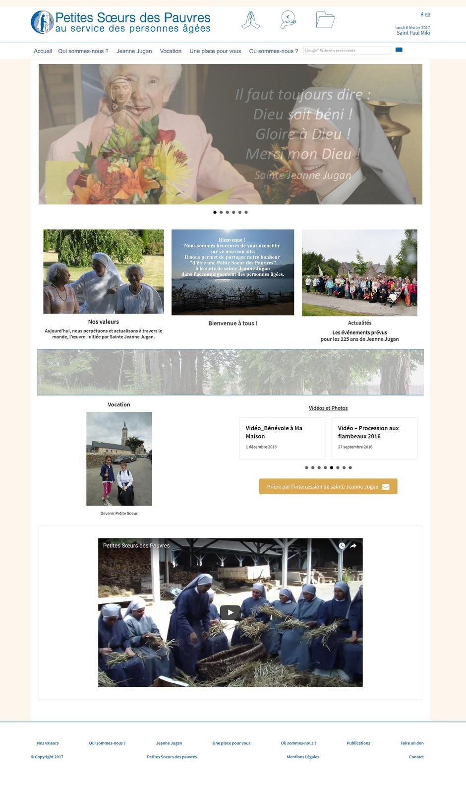 Site Petites Soeurs des Pauvres_Une