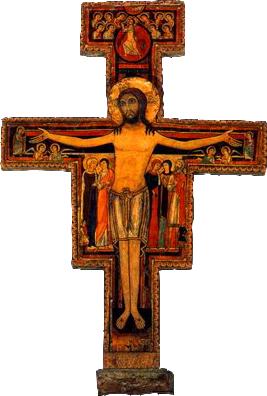 Crucifix de San Damien - Église Sainte Claire à Assise