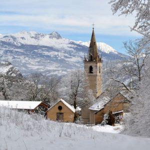 le Laus sous la neige
