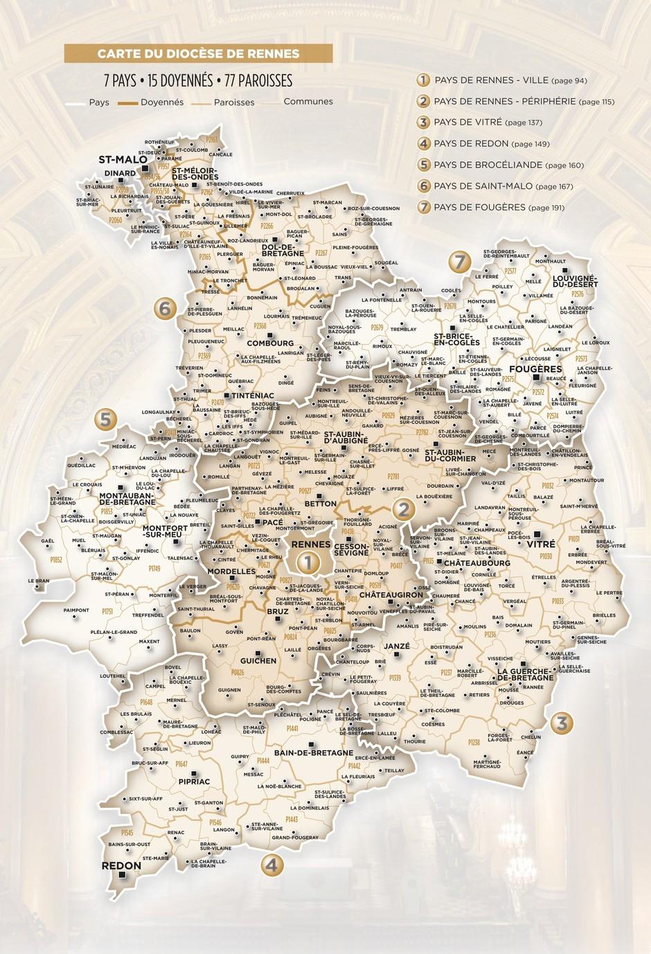 carte diocèse