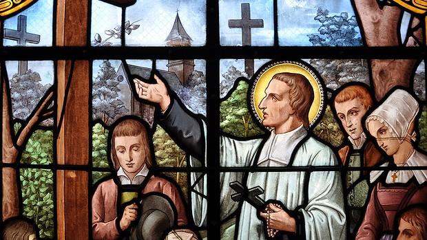 Père Montfort_vitrail Montfort