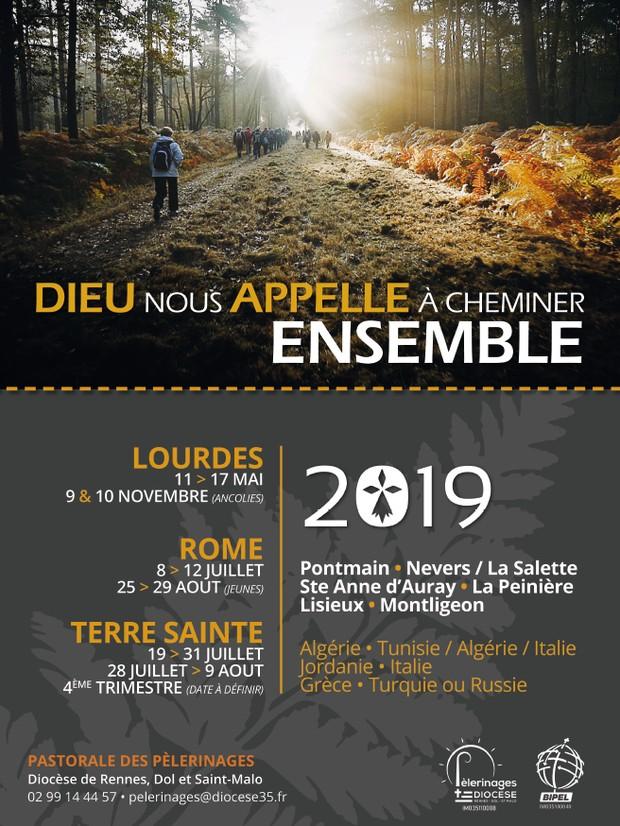 Calendrier Des Pelerinages Lourdes 2019.Le Service Des Pelerinages Du Diocese De Rennes