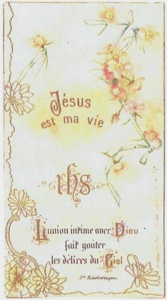 170609 Image de la Première communion de Lontine Dolivet - 27 avril 1899