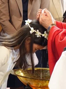 Baptême d'une adolescente à Rennes