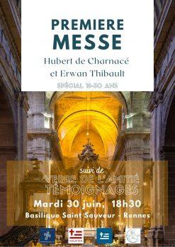 1re messe Hubert et Erwan 30 juin St-Sauvuer de Rennes
