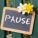 Pause Garten mit Blumen Blume im Frühling Tafel Schild