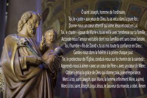 Prière à saint-Joseph