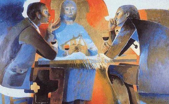 Une première reproduction de l'œuvre d'Arcabas sur les pèlerins d'Emmaüs