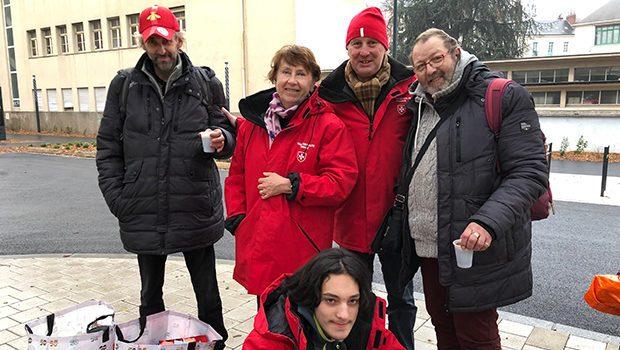 Ordre de Malte, maraude dans Rennes mars 2020